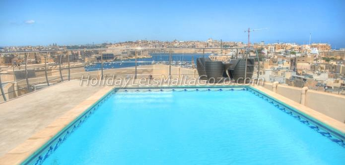 Holiday Let Malta Kalkara  upper harbour view