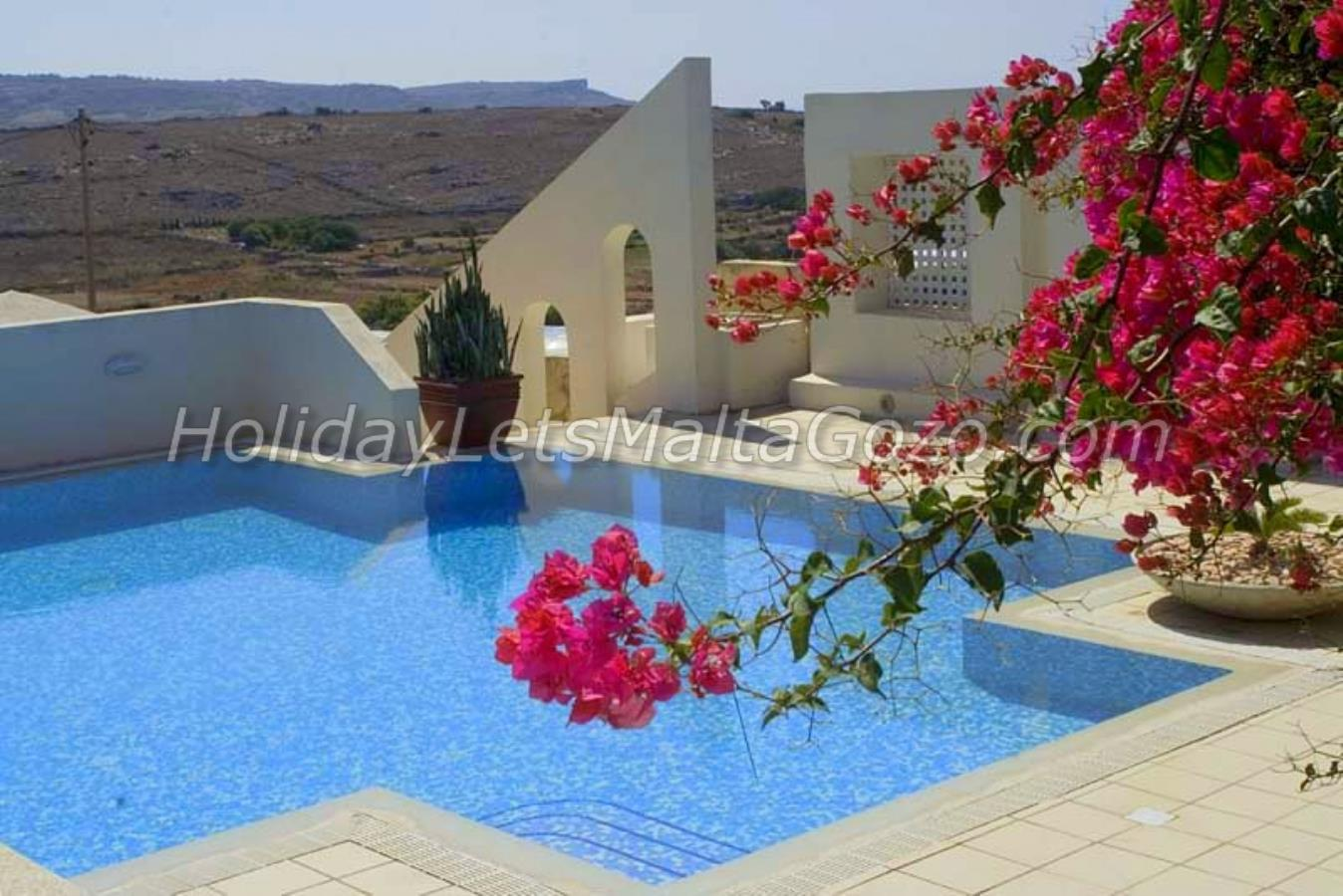 Cross shaped Pool with open Country Side views