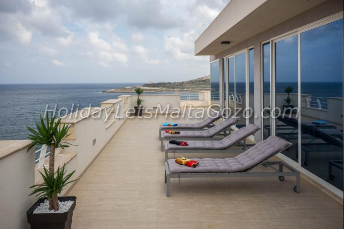 Holiday Let Malta Qawra Penthouse ghallis tower penthouse
