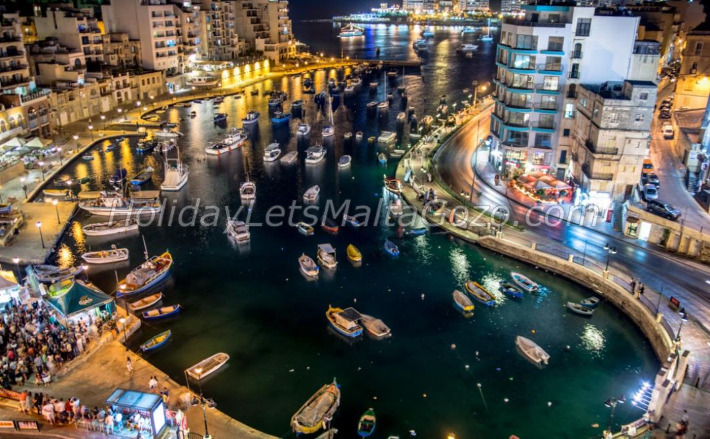 Overhead image of Spinola Bay